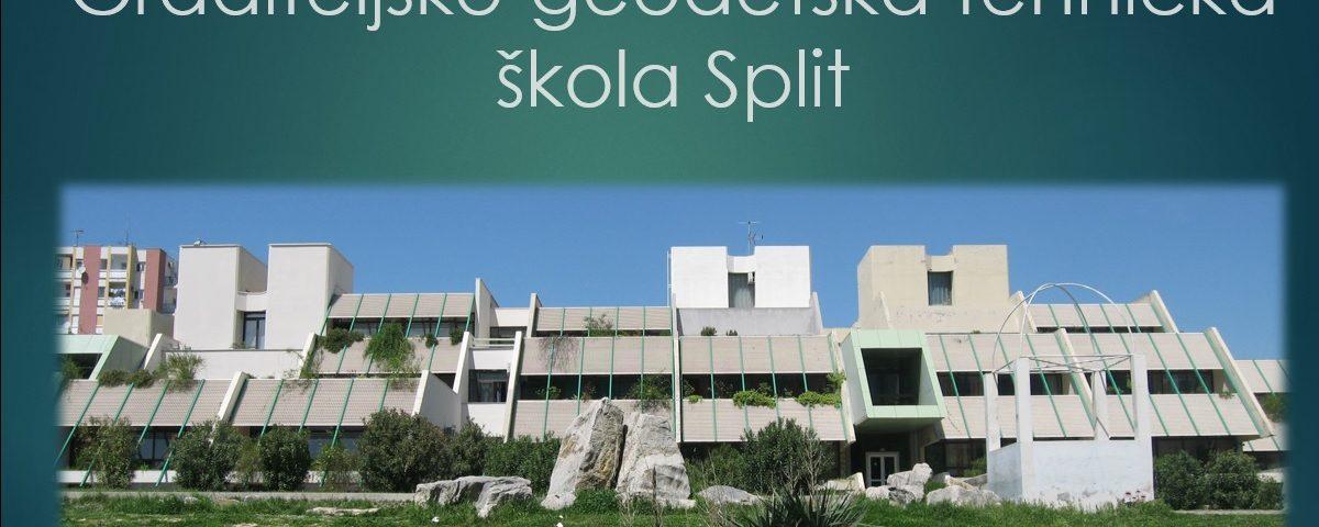 graditeljsko-geodetska škola split prezentacija